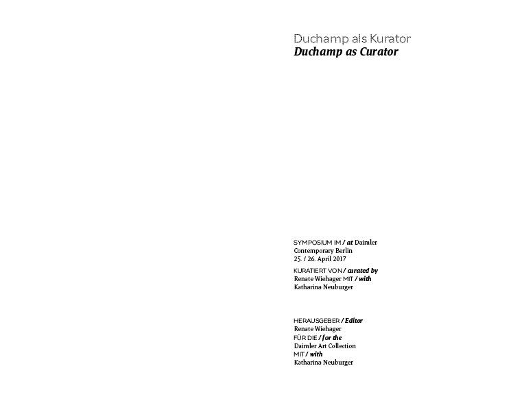 Duchamp as Curator